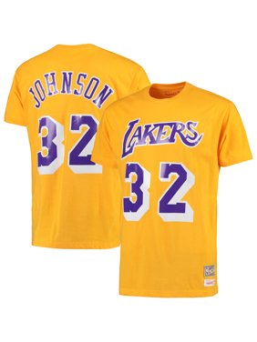 b7fce149 Product Image Magic Johnson Los Angeles Lakers Mitchell & Ness Hardwood  Classics Retro Name & Number T-