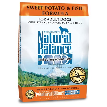 - Natural Balance Limited Ingredient Grain-Free Sweet Potato & Fish Dry Dog Food, 26 Lb