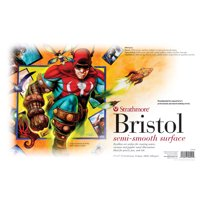 Strathmore Sequential Art Bristol Paper Sheet, 500 Series, 11in x 17in, 2-Ply Semi-Smooth, 100 lb.