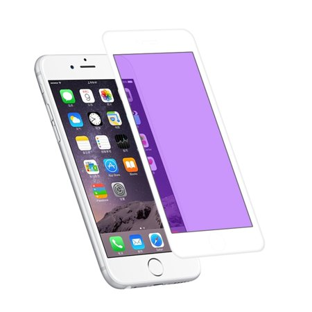 243a07775a8 REIKO IPHONE 6 PLUS 3D ANTI BLUE LIGHT FILTER TEMPERED GLASS SCREEN  PROTECTOR IN WHITE - Walmart.com