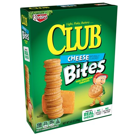 Keebler Club Cheese Bites, Mini Sandwich Crackers, 8.8 oz Box