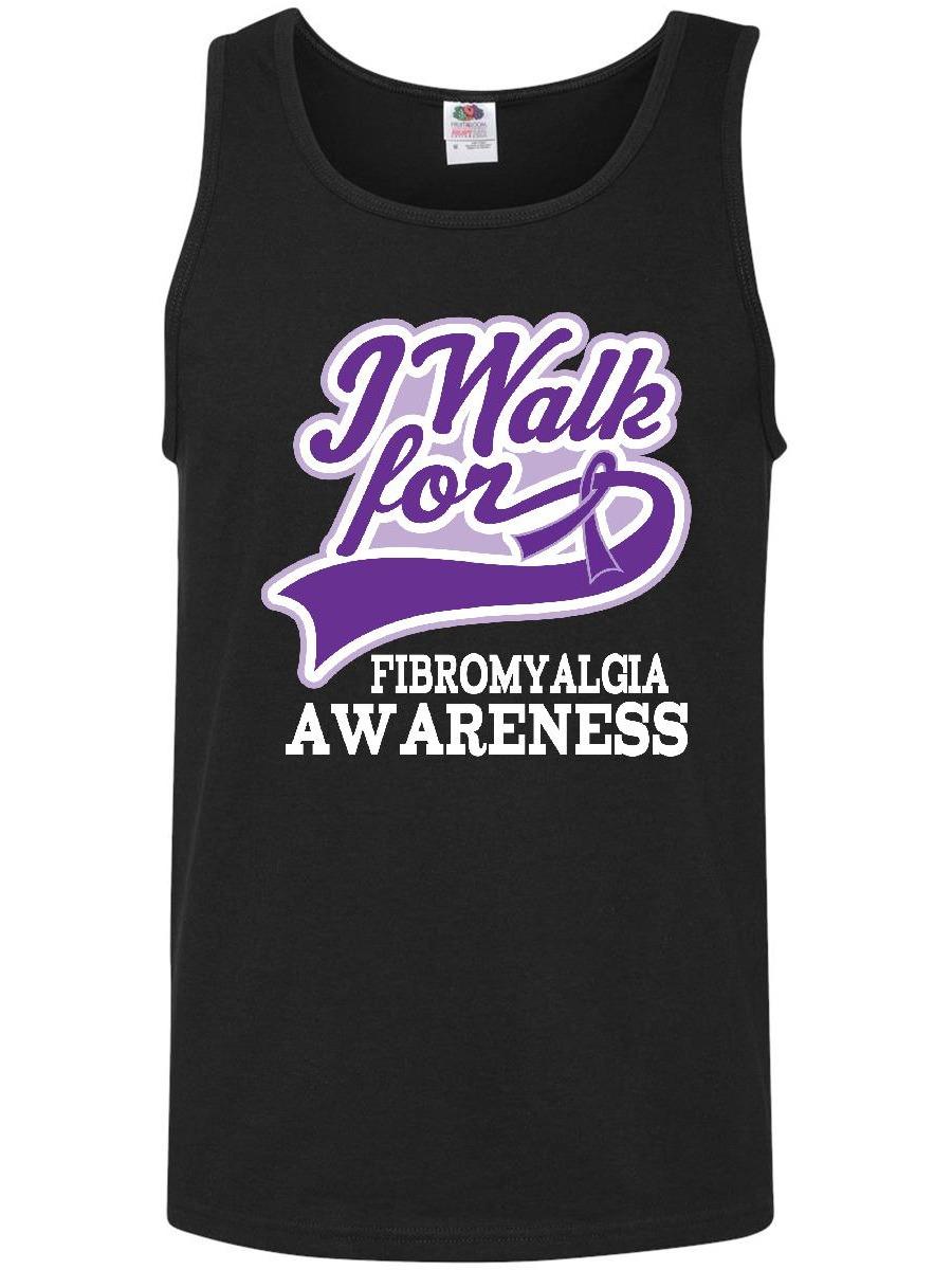 Fibromyalgia Awareness Walk Ribbon Men's Tank Top