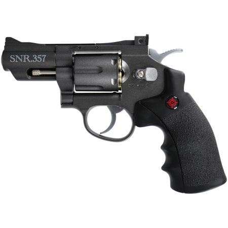Crosman SNR357 Full Metal Dual Ammo Snub Nose C02 Air Revolver, .177