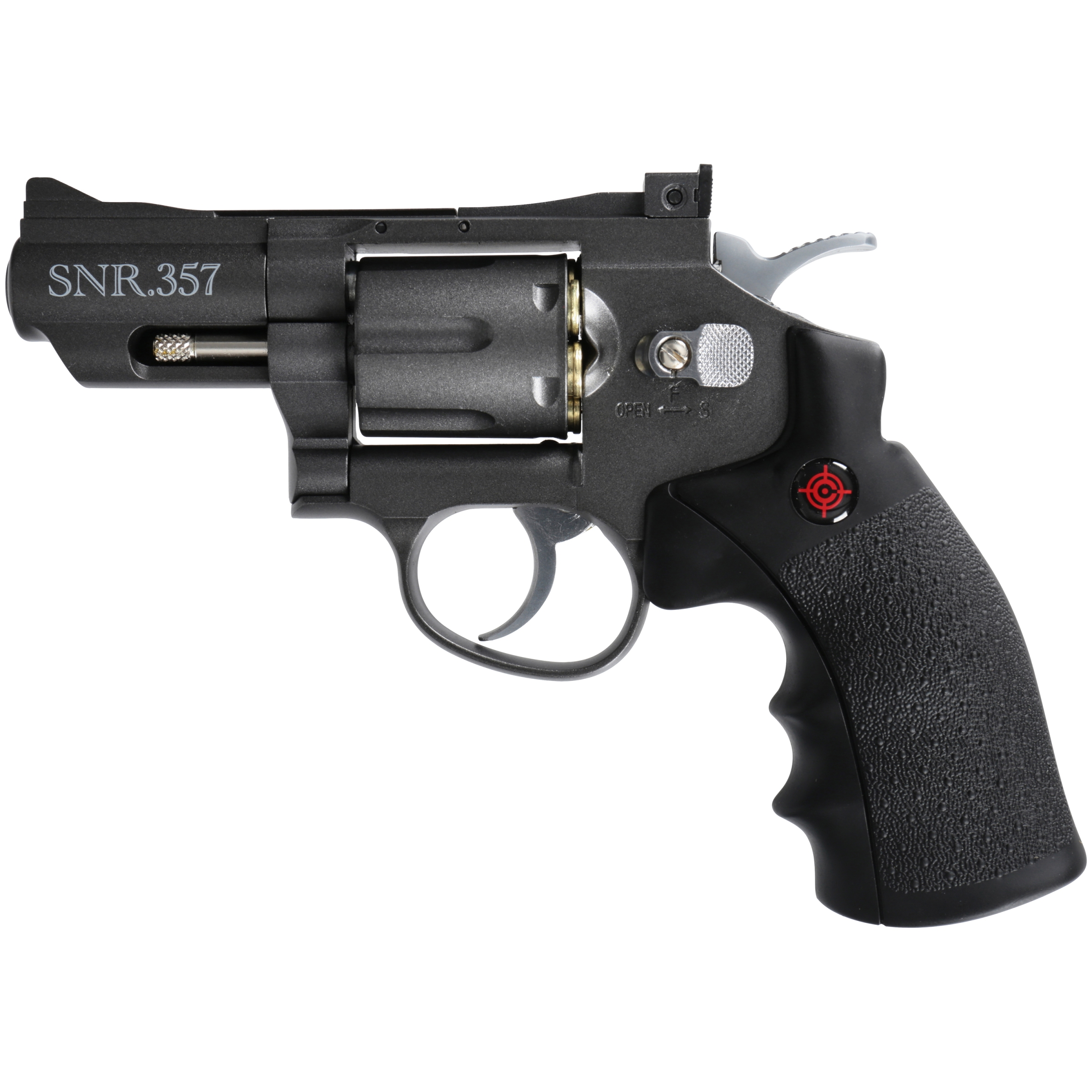 Crosman SNR357 Full Metal Dual Ammo Snub Nose C02 Air Revolver, .177 cal