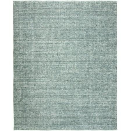 Terra Cotta Garden Rug - K2 Floor Style Terracotta Spa Blue Hand Made Wool & Silkette™ Area Rug