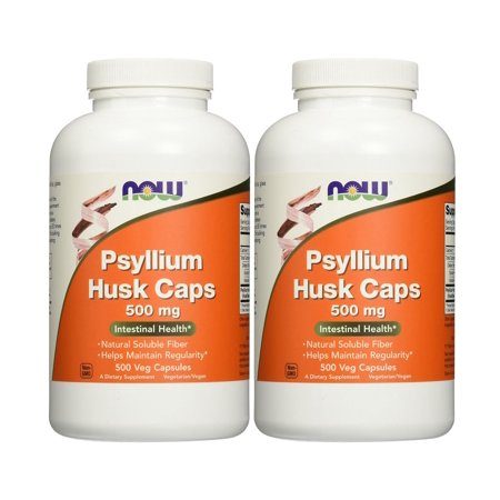 Now Foods - Psyllium Husk (Caps) 500 mg 500 Capsules (Pack of 2)