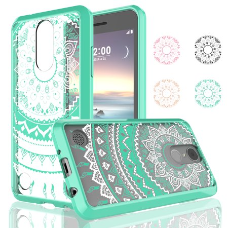 Cases LG Phoenix 3 / LG Fortune / LG Risio 2 / LG K4 2017 / VS425 / LG M150 / LG M153 M154, Njjex Transparent Adorable Ultra Thin Clear Hard TPU Skin Scratch-Proof Bumper Cases Cover