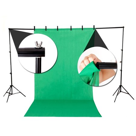 Zimtown 10ft Adjustable Background Support Stand Photography Video Backdrop Kit Black - image 4 de 7
