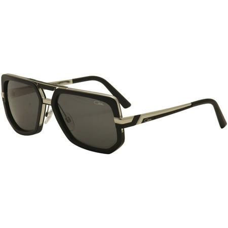 Cazal Legends Men's 662/3 662 002 Matte Black/Silver Retro Pilot Sunglasses (Cazals Glasses For Sale)