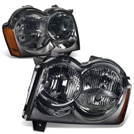 For 2005 to 2007 Jeep Grand Cherokee Headlight Smoked Housing Amber Corner Headlamp 06 WK