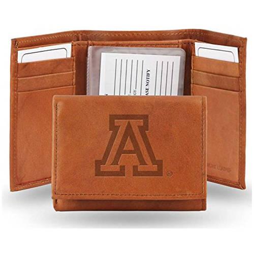 NCAA Arizona Embossed Leather Trifold Wallet