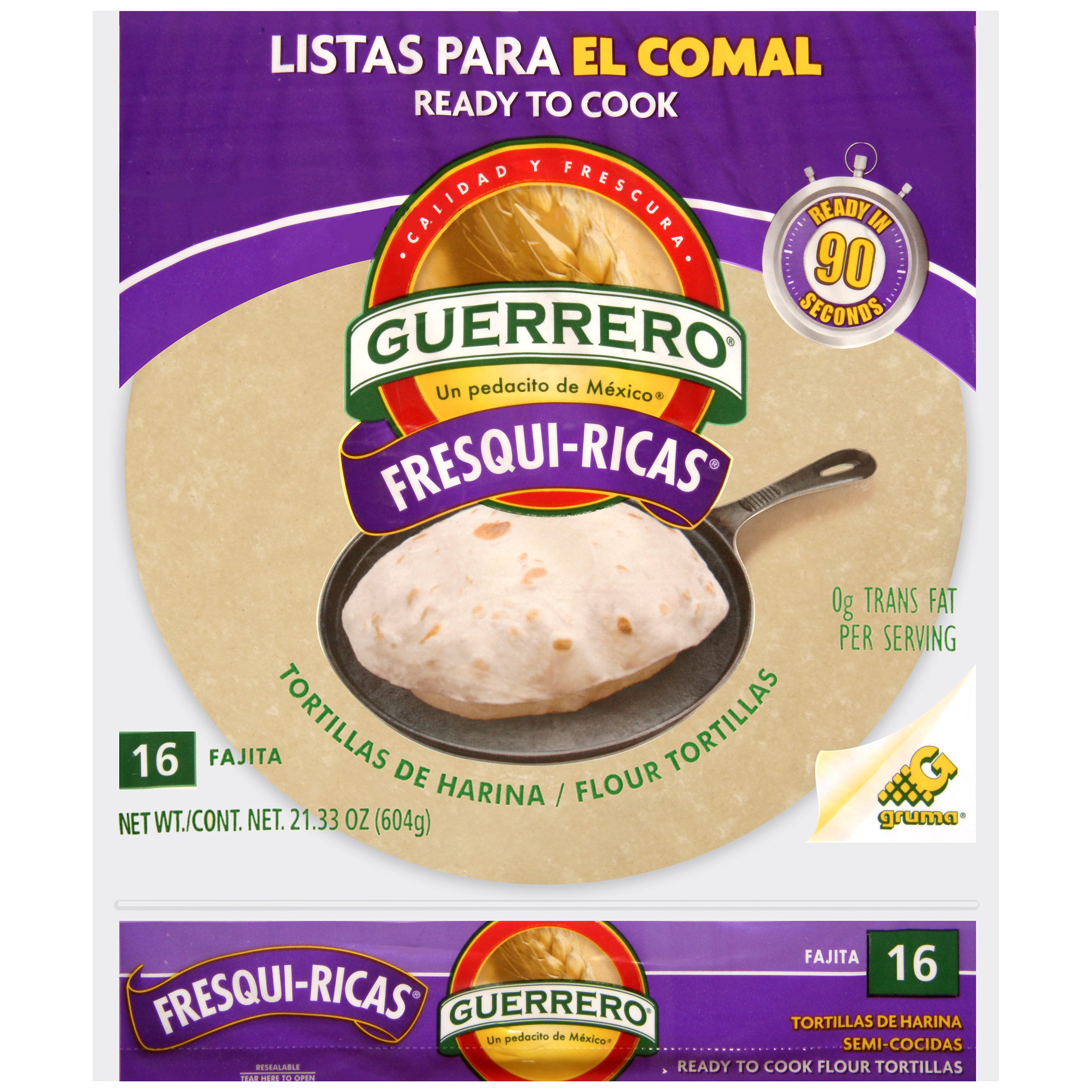 Guerrero Pre-Cooked Flour Fajita Tortillas, 16 ct