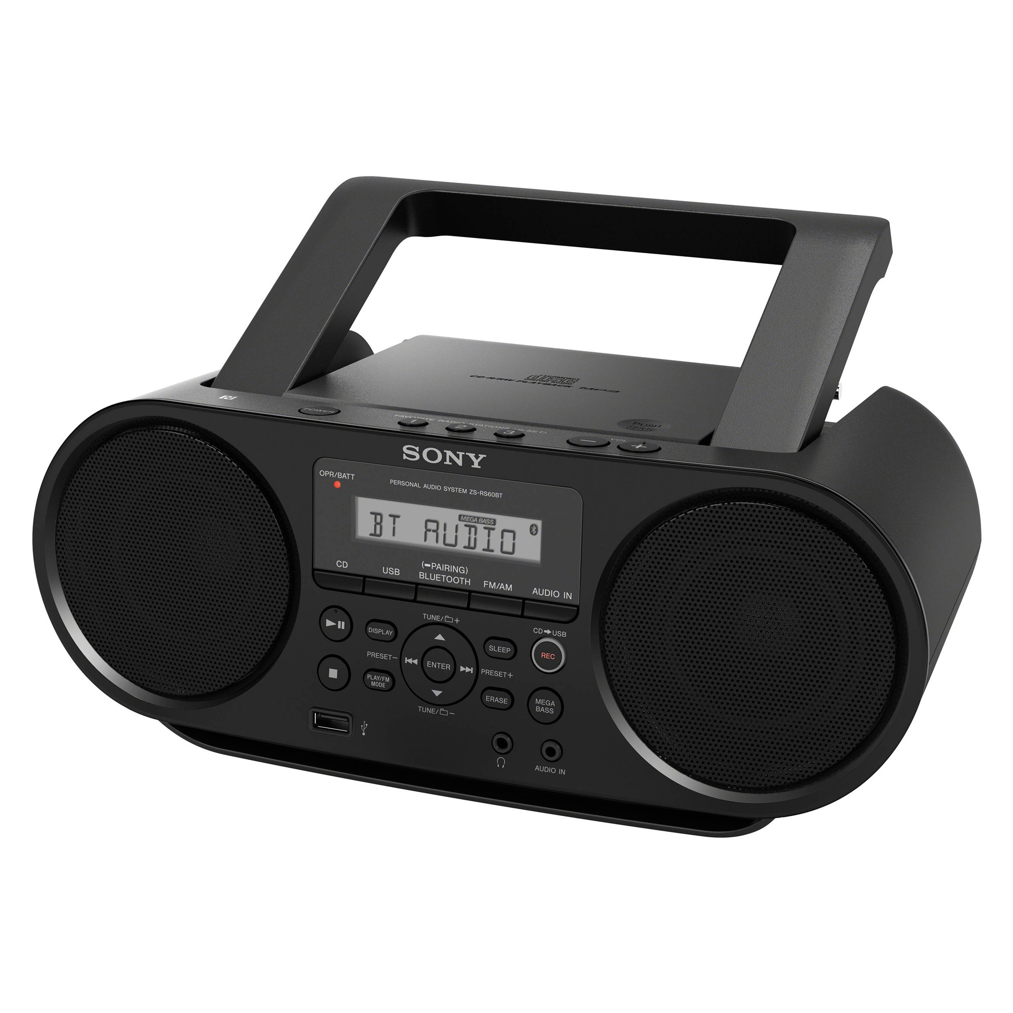 Sony ZSRS60BT Cd/mp3 Am/fm Boombox With Bluetooth And Nfc