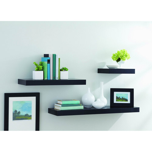 Floting Shelves better homes and gardens floating shelf - walmart