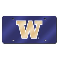 Washington Deluxe Mirrored Laser Cut License Plate