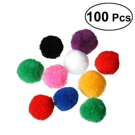 100pcs 4cm Assorted Pom Poms Kitten Toys Fluffy Balls for DIY Creative Crafts Decorations (Mix Color)](Pom Pom Rug Diy)