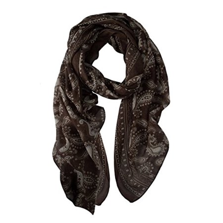 Peach Couture Damask Print Shawls Paisley Design Scarf Wrap Long Scarf