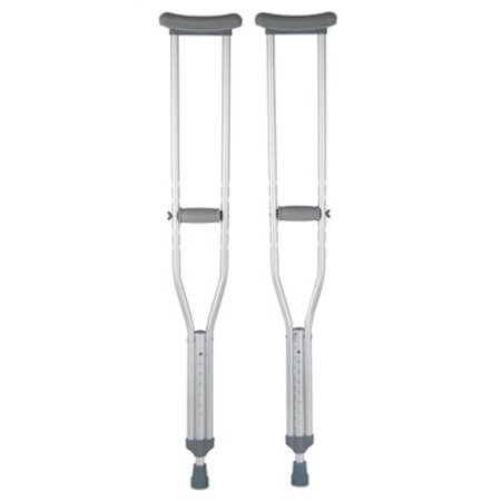 Underarm Crutch, Adult Crutches, 350 lb. Capacity, Adjustable User Height 5'2