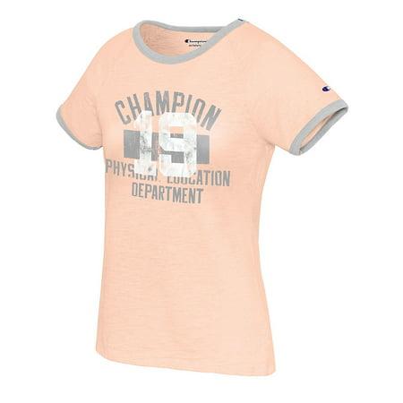 7cf846a6 Champion - Champion Women's Heritage Ringer Tee-Classic Champion Phys Ed  Dept - W9843G 549693 - Walmart.com