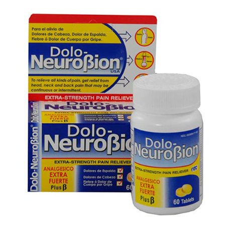 GRAND Dolo NEUROBION USA Extra Strength antidouleur 30 comprimés avec la vitamine B