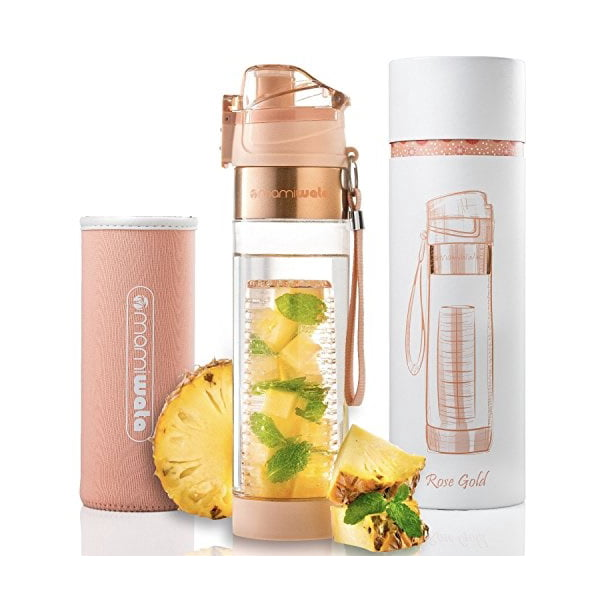 MAMI WATA Fruit Infuser Water Bottle Create Naturally Flavoured Fruit Infused Water Unique stylish design, Beautiful Gif