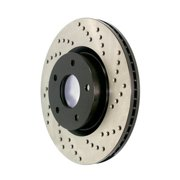 StopTech 128.44040R StopTech Sport Rotors; Drilled; Front Right;11.89 in. Dia.; 2.10 in. Height;