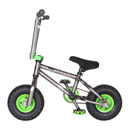 "Kobe ""Rusty Rat Rod"" Mini BMX - Off-Road to Skate Park, Freestyle, Trick, Stunt Bicycle 10"" Wheels for Adults and Kids - Green - image 6 de 12"