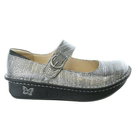 Alegria Paloma Wegde Flat Mary Jane Clog Shoe -