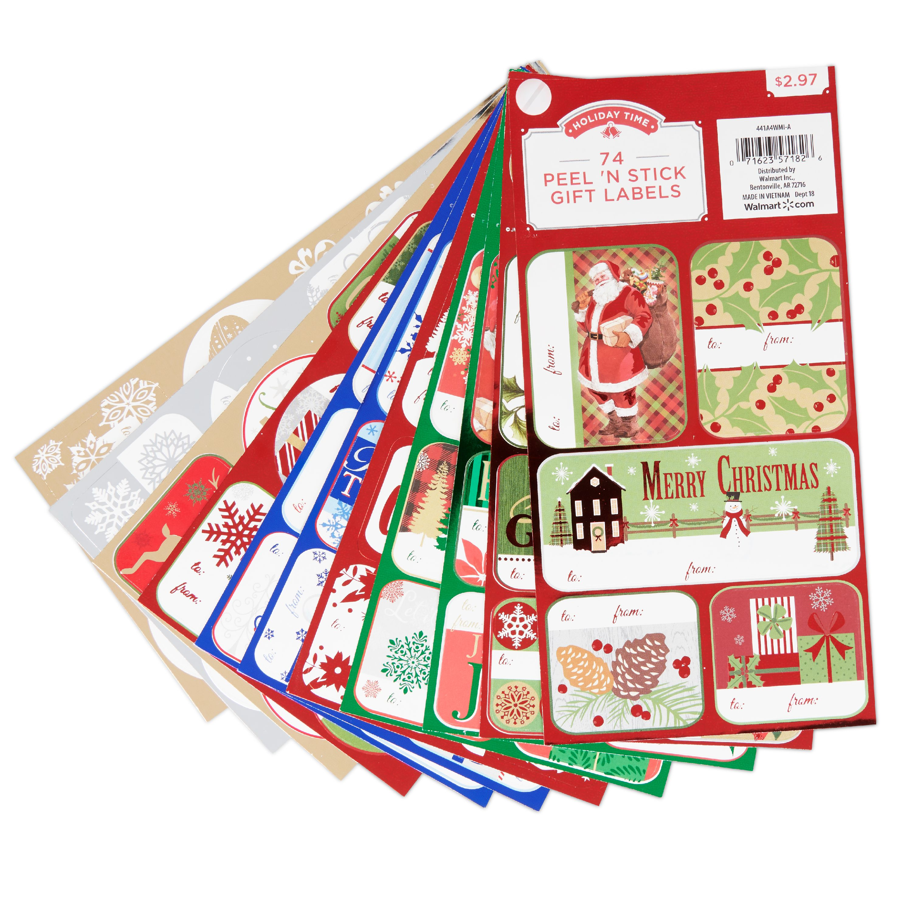 Holiday Time Traditional Gift Tags Hot Stamp