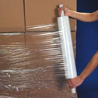 """uBoxes Stretch Wrap 20"""" Roll With Handle 1000' 80 Gauge"""