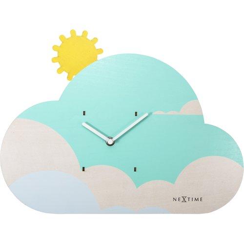 kaldewei Zoomie Kids Eclectic Cloudy Wall Clock