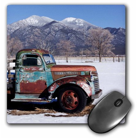 3dRose Old truck sitting the a field, Taos, New Mexico, USA., Mouse Pad, 8 by 8 inches