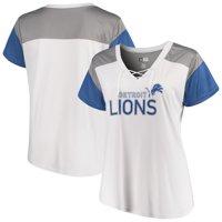Product Image Detroit Lions Majestic Women s Lace-Up V-Neck T-Shirt - White  6cee9cdde