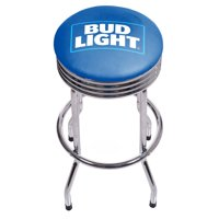 Bud Light Chrome Ribbed Bar Stool