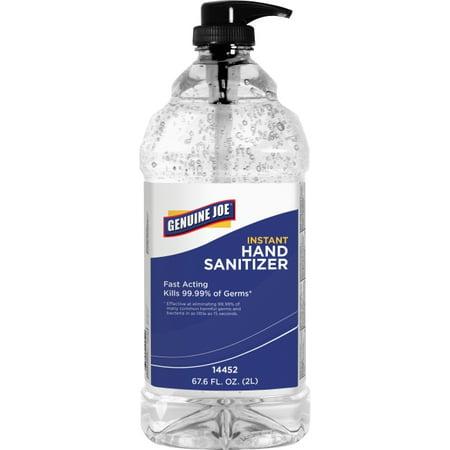 Genuine Joe Gel Hand Sanitizer - Fresh Citrus Scent - 67.6 fl oz (1999.2 mL) - Kill Germs, Bacteria Remover - Hand - Clear - Anti-bacterial, Hygienic, Moisturizing, Non-drying - 1 Each