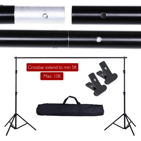 Yescom 10' Adjustable Background Support Stand Photography Video Backdrop Kit w/ Carrying Case & Background