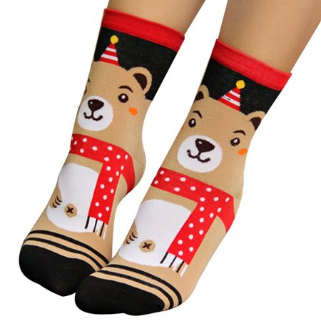 3d cartoon christmas socks clearance winter women socks by wensltd - Walmart Christmas Socks