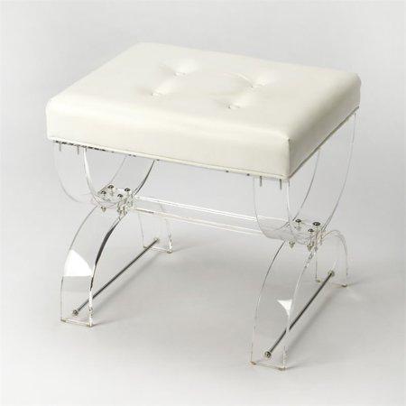acrylic vanity bench | Butler Specialty Butler Loft Vanity Bench in Clear Acrylic ...