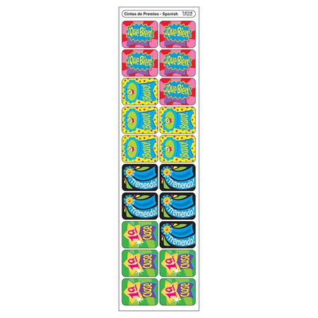 APPLAUSE STICKERS SPANISH RIBBONS