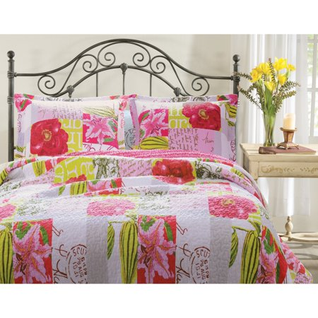 Greenland Home Fashions San Marino Love Letters Quilt Set