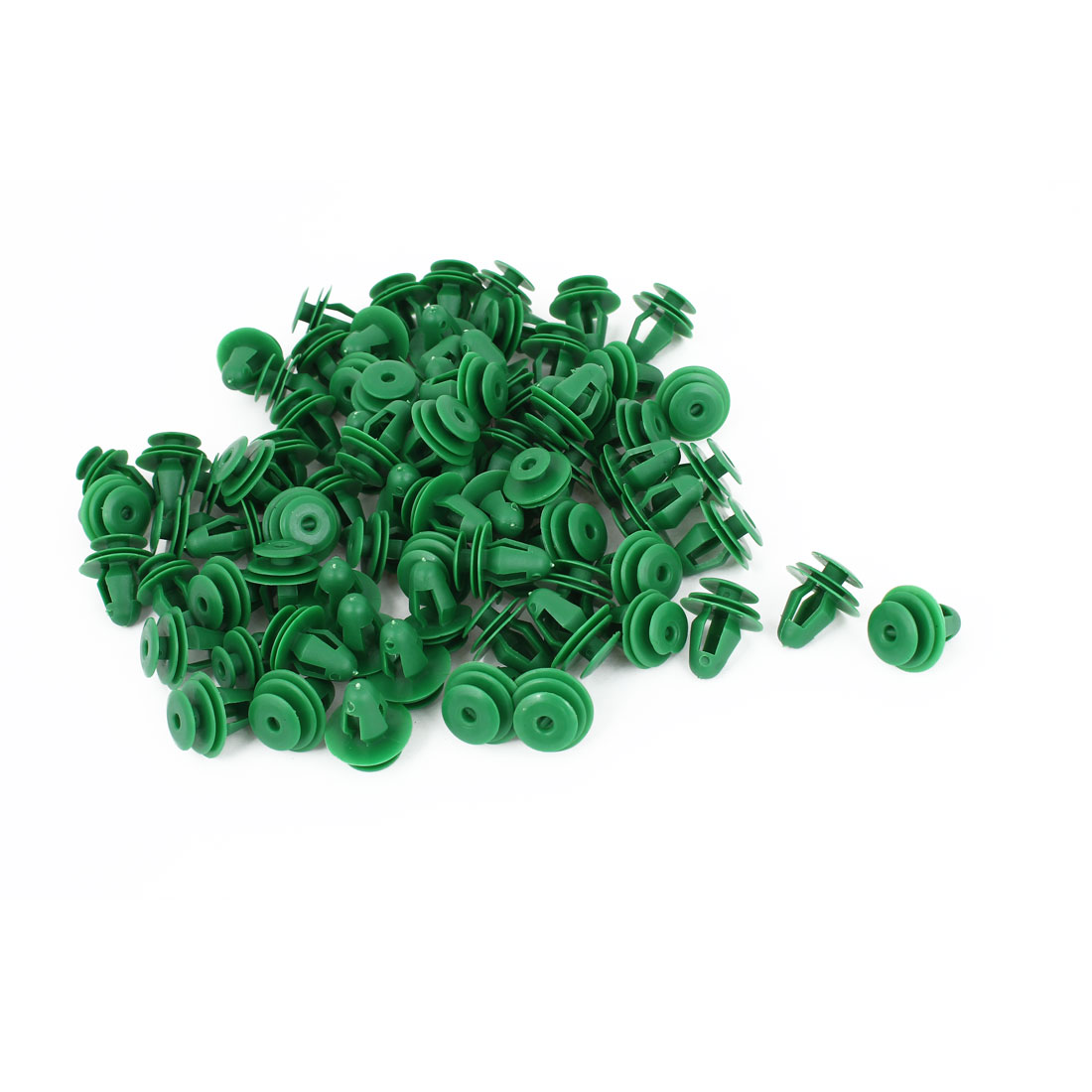 100pcs Car Green Plastic Push Type Fasteners Clip Rivet for 10mm Hole Dia