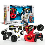 Sharper Image Robot Combat, Remote Control Robot Combat Set, Multiplayer RC Toy for Kids, Robo Duel Game with Infrared Controllers, Challenge a Friend! - Great Gift for Boys or Girls - Red and White