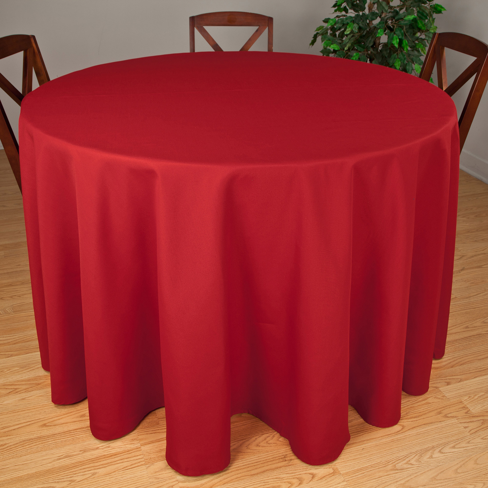 """Riegel Premier Hotel Quality Tablecloth, 90"""" Round, Multiple Colors Available"""