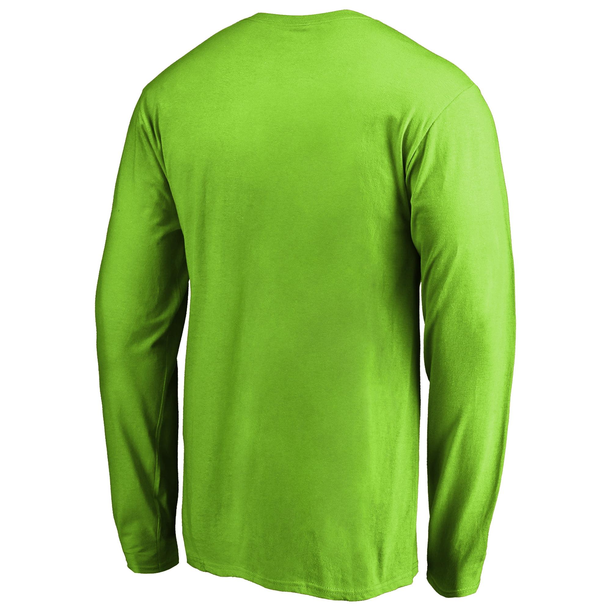 Seattle Seahawks NFL Pro Line by Fanatics Branded Alternate Team Logo Gear  Flea Flicker Long Sleeve T-Shirt - Neon Green - Walmart.com 2f6ce1736