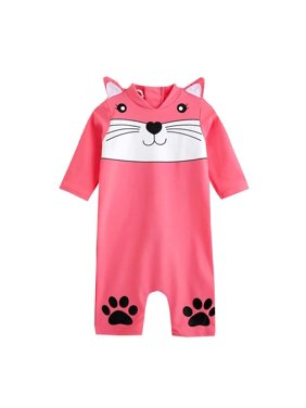 57135b949cb66 Product Image Fysho Cartoon Animal Long Sleeve Swimsuit Rash Guard Swimwear  One Piece for Baby Toddler Boy