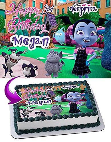 Vampirina Edible Cake Topper Personalized Birthday 1/4 ...