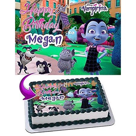 Vampirina Edible Cake Topper Personalized Birthday 1 4 Sheet Decoration Custom Party Sugar
