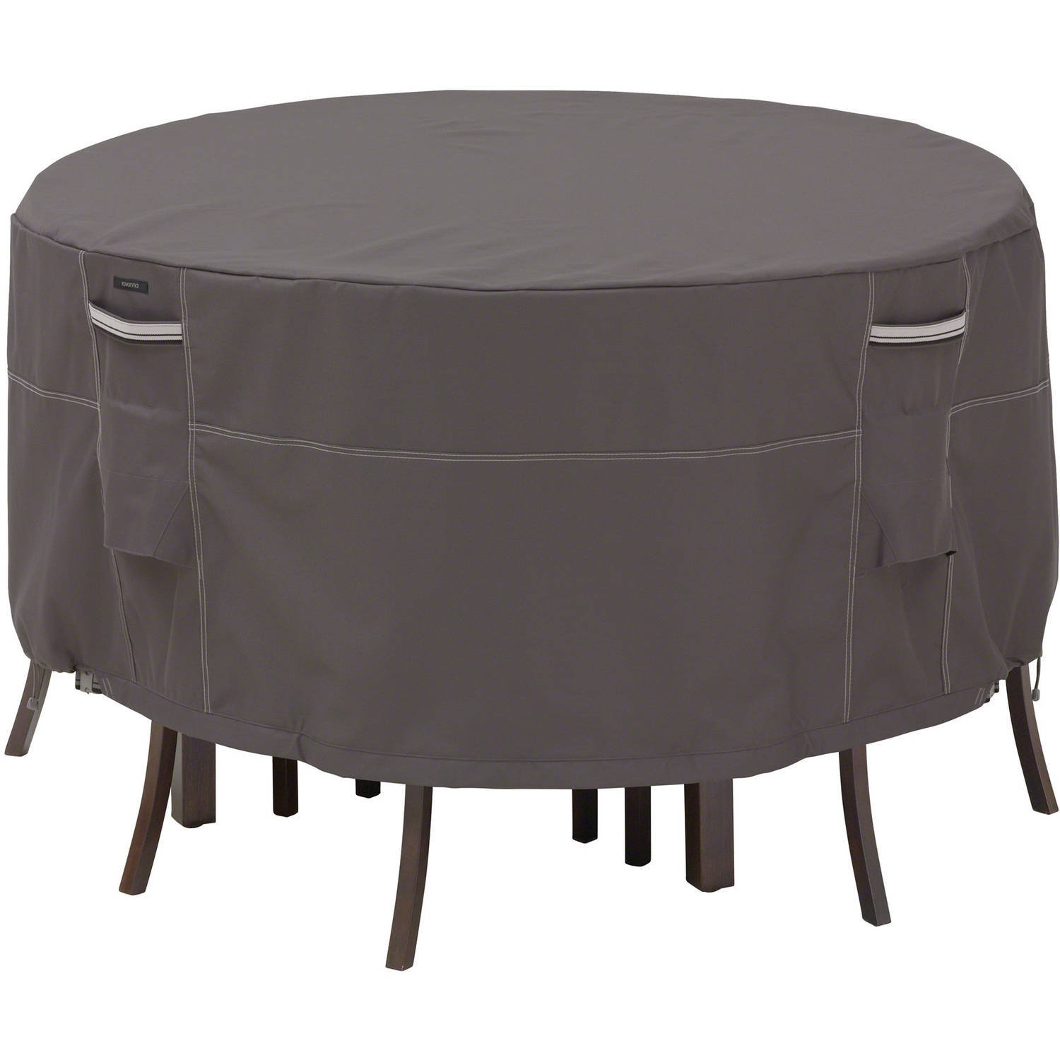 """Classic Accessories Ravenna Bistro Patio Table and Chair Furniture Storage Cover, Fits Tables up to 52"""" Diameter, Taupe"""