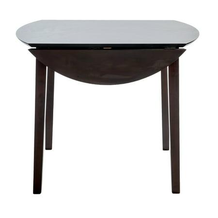 Home Source Helena Dark Espresso Drop Leaf Table ()