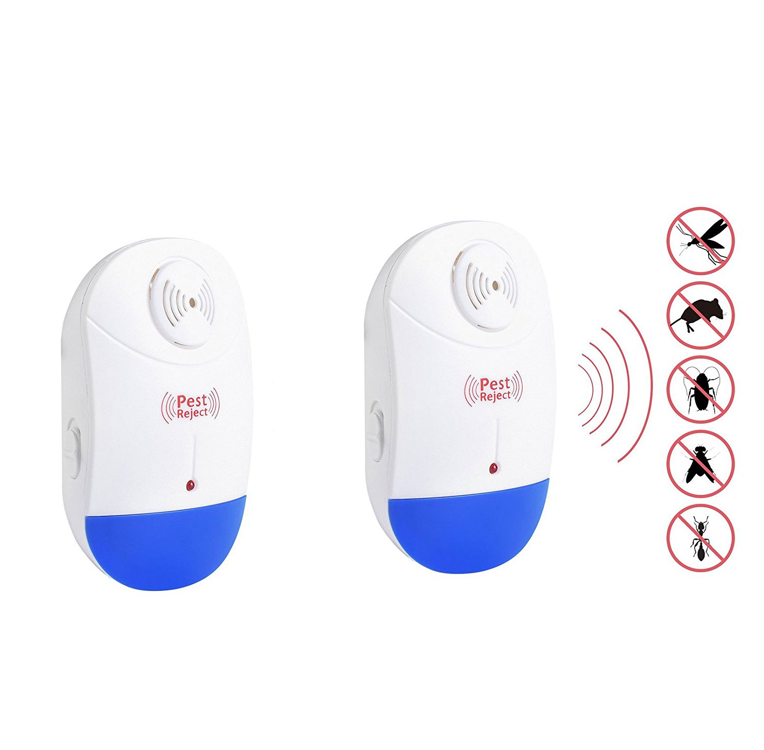 Dilwe 2 PCS Ultrasonic Pest Repeller with Night Light,Electronic Plug-In & Repel... by